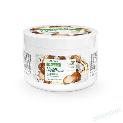 Mască de păr AROMA NATURAL Argan și lapte de cocos 450 ml