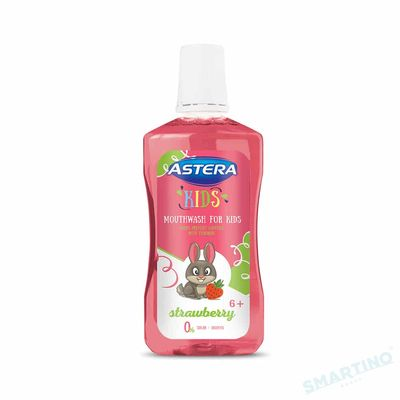 Ополаскиватель для полости рта ASTERA Kids Strawberry 300 мл 6+