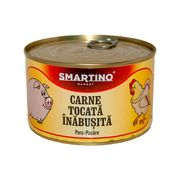 Carne tocata inabusita SMARTINO de porc-pasare 400gr.