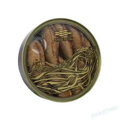 """Sprote in ulei 160gr """"Amberfish"""" Capac transparent"""