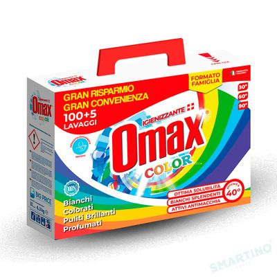 Detergent praf OMAX Colore 6.3 kg - 105 spalari