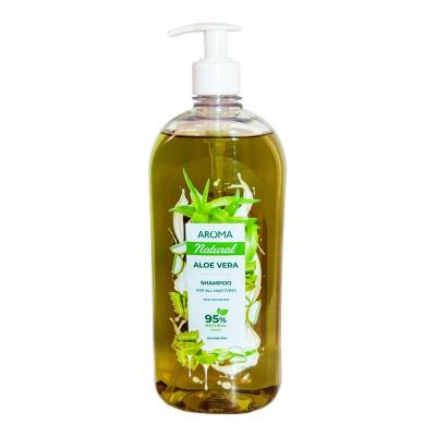 Șampon pentru păr AROMA NATURAL Aloe Vera 900 ml Pompa