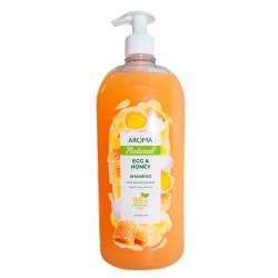 Șampon pentru păr AROMA NATURAL Ou și miere 900 ml Pompa